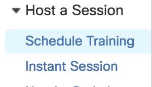 Host a Session Menu picture